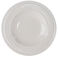 Embossed Rim American White (Ivory / Eggshell) Rimmed 15 oz. China Soup Dish - 24 / Case