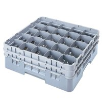 Cambro 25S418151 Camrack 4 1/2 inch High Soft Gray 25 Compartment Glass Rack