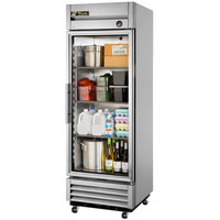 True T-19G-LD 27 inch Single Glass Door Reach In Refrigerator with LED Lighting