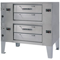 Bakers Pride GS-990 Super Deck Liquid Propane Double Deck Pizza Oven - 120,000 BTU