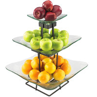 Cal-Mil 1541-3-13 Torre Plaza 16 3/4 inch x 20 1/4 inch Glass Display Stand