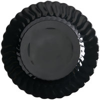 Fineline Flairware 210-BK 10 1/4 inch Black Plastic Plate - 18 / Pack