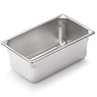 Vollrath Super Pan V 30942 1/9 Size Anti-Jam Stainless Steel Steam Table / Hotel Pan - 4 inch Deep