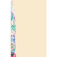 8 1/2 inch x 11 inch Menu Paper Left Insert  - Pasta Themed Wine Design - 100/Pack