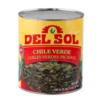 Del Sol Diced Green Chile Peppers - (6) #10 Cans / Case