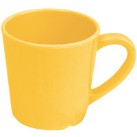 Smooth Melamine 7 oz. Yellow Mug - 12/Case