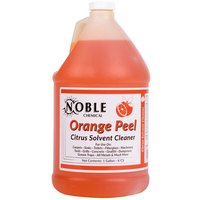 Noble Chemical 1 Gallon Orange Peel Citrus Solvent Cleaner - Ecolab® 14559 Alternative   - 4/Case
