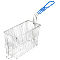 Globe TMBASKET1632 9 1/2 inch x 4 inch x 6 inch Twin Fryer Basket with Front Hook