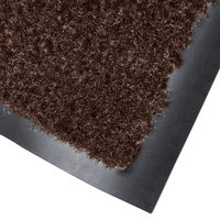 Cactus Mat 1437M-B46 Catalina Standard-Duty 4' x 6' Brown Olefin Carpet Entrance Floor Mat - 5/16 inch Thick