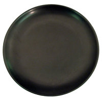 CAC 666-21-BK Japanese Style 12 inch China Coupe Plate - Black Non-Glare Glaze - 12/Case