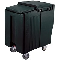 Cambro ICS175T110 Black Sliding Lid Portable Ice Bin - 175 lb. Capacity Tall Model