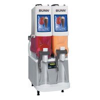 Bunn Ultra-2 PAF Powdered Autofill Slushy / Granita Frozen Drink Machine with 2 Hoppers - White & Stainless Steel 120V (Bunn 34000.0500)