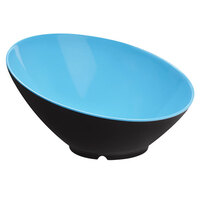 GET B-792-BL/BK Brasilia 24 oz. Blue and Black Melamine Bowl - 6/Case