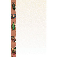 8 1/2 inch x 14 inch Menu Paper Left Insert - Southwest Themed Desert Design - 100/Pack