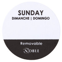 Noble Products Sunday 1 inch Removable Day of the Week Dot Label - 1000 / Roll