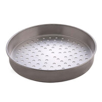 American Metalcraft T4014SP 14 inch Super Perforated Straight Sided Pizza Pan - Tin-Plated Steel