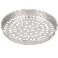 American Metalcraft T4014SP 14 inch x 1 inch Super Perforated Tin-Plated Steel Straight Sided Pizza Pan