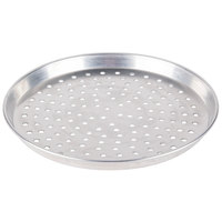 American Metalcraft PHADEP8 8 inch x 1 inch Perforated Heavy Weight Aluminum Tapered / Nesting Deep Dish Pizza Pan