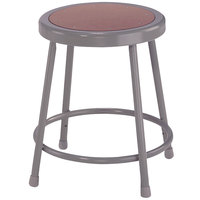 National Public Seating 6218 18 inch Gray Hardboard Round Lab Stool