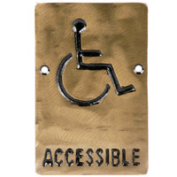 Tablecraft 465632 6 inch x 4 inch Bronze Accessible Sign
