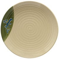 GET 207-10-TD Japanese Traditional 10 1/2 inch Plate with Swirl Texture - 12/Case