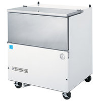 Beverage Air SM34N-W-02 White Exterior and Stainless Steel Interior Milk Cooler 1 Sided - 34 1/2 inch
