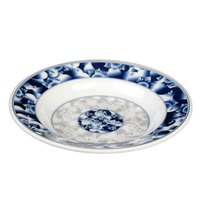 Blue Dragon 10 oz. Round Melamine Soup Plate - 12/Pack