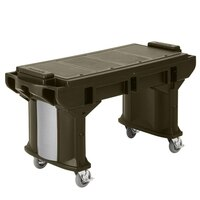 Cambro VBRTHD6146 Bronze 6' Versa Work Table with Heavy Duty Casters