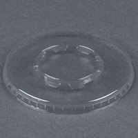 WNA Comet LCD58C Clear Flat Lid for 5 and 8 oz. Dessert Container 100 / Pack