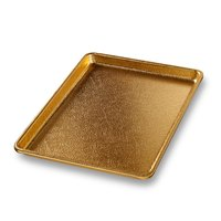 Chicago Metallic 40940 Gold 9 1/2 inch x 13 inch Bakery Display Tray