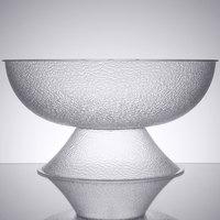 Cambro PPB23176 40 Qt. Pebbled Pedestal Punch Bowl