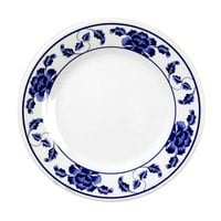 Lotus 6 7/8 inch Round Melamine Plate - 12 / Pack