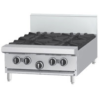 Garland G24-2G12T Liquid Propane 2 Burner Modular Top 24 inch Range with 12 inch Griddle - 84,000 BTU