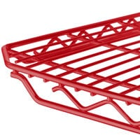 Metro 1448Q-DF qwikSLOT Flame Red Wire Shelf - 14 inch x 48 inch