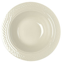 Homer Laughlin Gothic 7000-341 10.5 oz. American White (Ivory / Eggshell) China Grapefruit Bowl / Dish - 36/Case