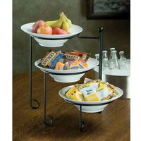 American Metalcraft TTRS3 Three-Tier Plate Stand with Curled Feet