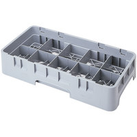 Cambro 10HS958151 Soft Gray Camrack 10 Compartment 10 1/8 inch Half Size Glass Rack