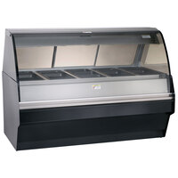 Alto-Shaam TY2SYS-72 SS Stainless Steel Heated Display Case with Curved Glass and Base - Full Service 72 inch