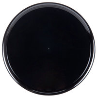 WNA Comet A918BL 18 inch Black Checkmate Round Catering Tray with High Edge - 25 / Case