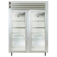 Traulsen AHF232WP-FHG 55.8 Cu. Ft. Glass Door Two Section Reach In Pass-Through Heated Holding Cabinet - Specification Line