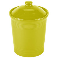 Homer Laughlin 573332 Fiesta Lemongrass Large 3 Qt. Canister with Cover - 2 / Case