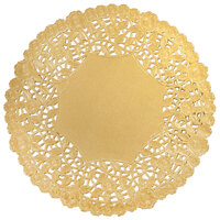 12 inch Gold Foil Lace Doily - 500 / Case
