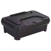 Carlisle XT140003 Cateraide Slide N Seal 20 inch x 12 inch x 4 inch Black Insulated Food Pan Carrier and Sliding Lid Set
