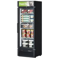 Turbo Air TGF-15SD Black 27 inch Super Deluxe Single Door Merchandiser Freezer - 15.9 Cu. Ft.