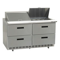 Delfield UCD4448N-12 48 inch Reduced Height Salad Prep Refrigerator with Four Drawers