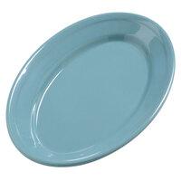 Carlisle 4387263 9 1/4 inch x 6 1/4 inch Turquoise Dayton Oval Platter 24 / Case