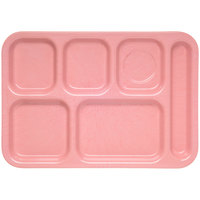 Carlisle 4398900 Heavy Weight Melamine Variegated Right Hand 6 Compartment Tray - 10 inch x 14 inch
