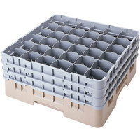 Cambro 36S958184 Beige Camrack 36 Compartment 10 1/8 inch Glass Rack