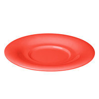5 1/2 inch Orange Melamine Saucer for 7 oz. Bouillon Cup and Mug - 12/Pack