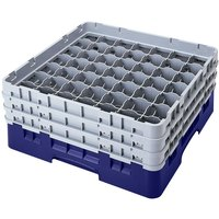 Cambro 49S958186 Navy Blue Camrack 49 Compartment 10 1/8 inch Glass Rack